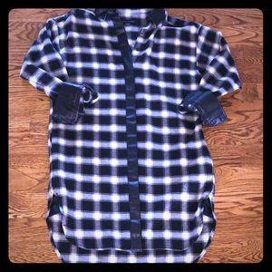 Banana Republic flannel shirt dress 🖤